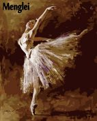 "Раскраска по номерам ""Хрупкая балерина"""