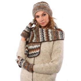 Комплект шапка, шарф, варежки 08114-47