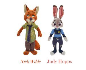 Плюшевые игрушки Зверополис: Ник и Джуди
