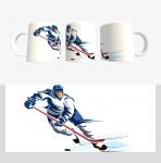 Кружка с хоккейной символикой (Арт. К-34)