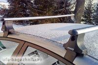 Багажник на крышу Hyundai Elantra 4, Атлант, аэродинамические дуги