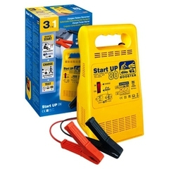 STARTUP 80  Устройство '3 в 1'. Сетевой бустер, зарядное устройство, тестер аккумулятора. Благодаря функции BOOST и 10-минутной предварительной зарядке, запускает двигатель при разряженном аккумуляторе. Зарядка свинцовых аккумуляторов с жидким э