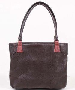 Коричневая сумка на плечо