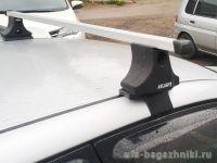 Багажник на крышу Hyundai Elantra 5, Атлант, прямоугольные дуги