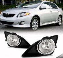 Противотуманные фонари с накладкам, серебристая окантовка, к-кт на седан 2007-2010