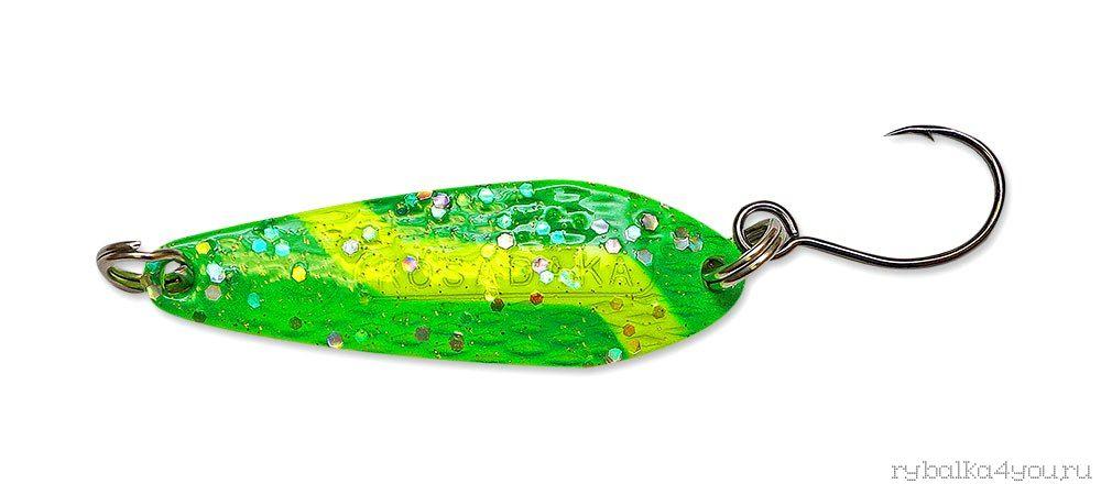 Купить Блесна Kosadaka Micron (одинарный крючок) 41 мм / 6 гр цвет GO