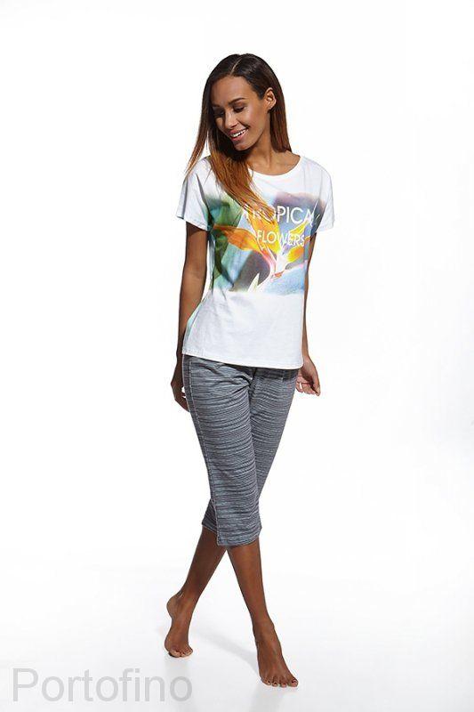 624-68 Cornette пижамка женская футболка и бриджи