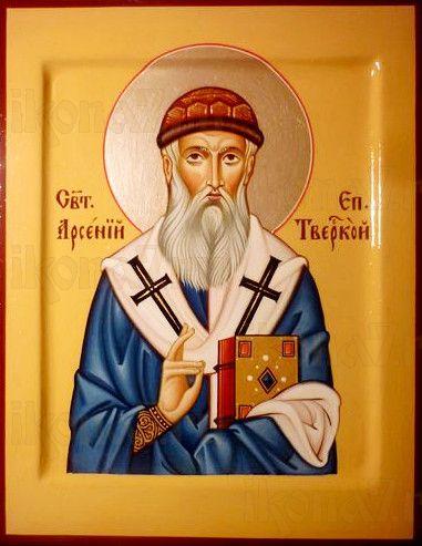 Арсений Тверской (рукописная икона)