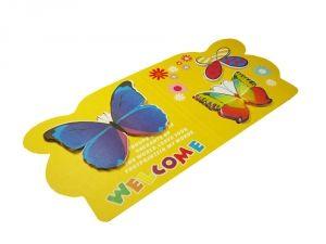 """Стикер """"3 бабочки"""" на желтом фоне"""
