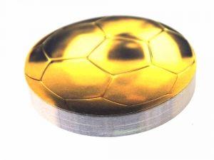 Стикер Мяч футбольный золотой