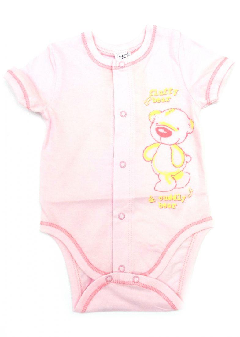 Легкое розовое боди Fluffy bear