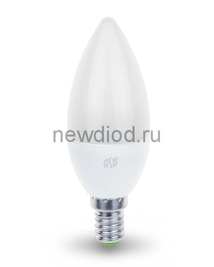 Лампа светодиодная LED-СВЕЧА-standard 7.5Вт 160-260В Е14 3000К 675Лм ASD