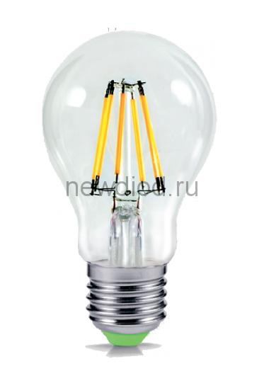 Лампа светодиодная LED-A60-PREMIUM 6Вт 160-260В Е27 4000К 540Лм прозрачная ASD