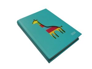 Блокнот с вырезанным Жирафом бирюзовый