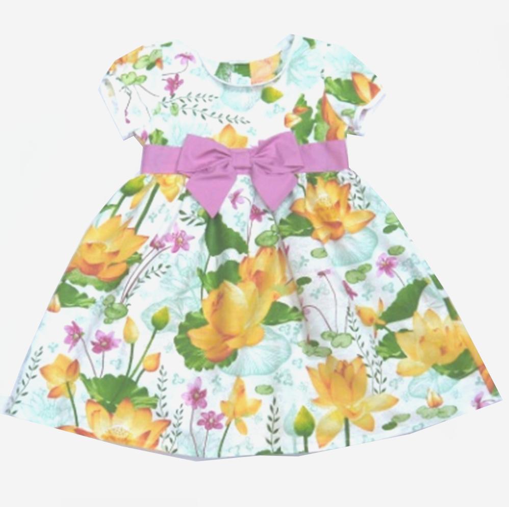 Хлопковое летнее платье для девочки