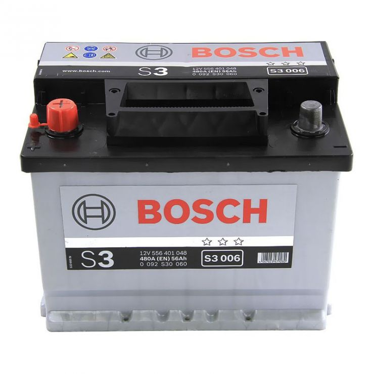 Автомобильный аккумулятор АКБ BOSCH (БОШ) S3 006 / 556 401 048 S3 56Ач п.п.