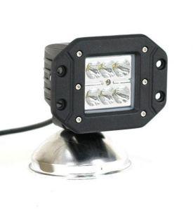 Врезная светодиодная фара дальнего света 18W CREE (3W)