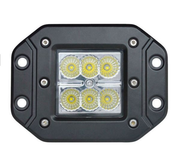 Врезная светодиодная LED фара 18W CREE (3W) (1 шт.)