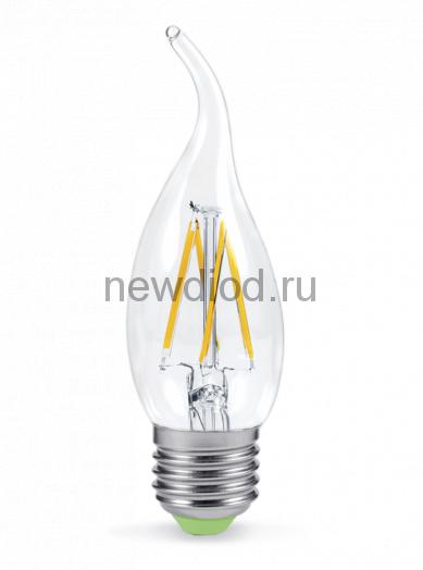 Лампа светодиодная LED-СВЕЧА НА ВЕТРУ-PREMIUM 5Вт 160-260В Е27 4000К 450Лм прозрачная ASD