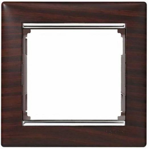 Рамка Valena темное дерево/серебряный штрих 770371