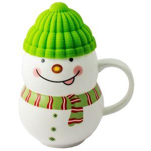 Кружка  Снеговик зеленый