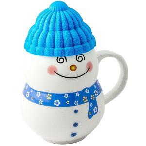 Кружка  Снеговик синий
