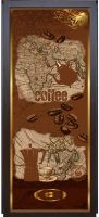 Наклейка на дверь - Все пьют кофе | магазин Интерьерные наклейки