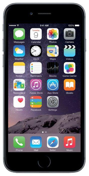 Мобильный телефон Apple iPhone 6 16 Gb Space Gray A1586