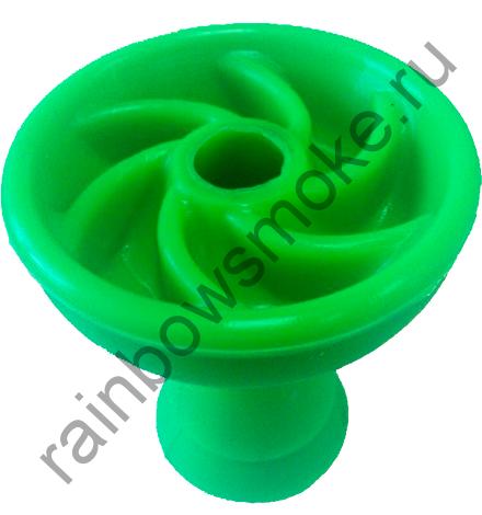 Силиконовая чаша зелёная (вихрь)