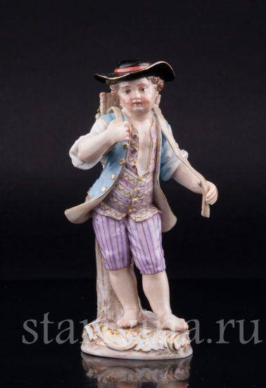 Изображение Мальчик с корзиной винограда, Meissen, Германия, 19 в