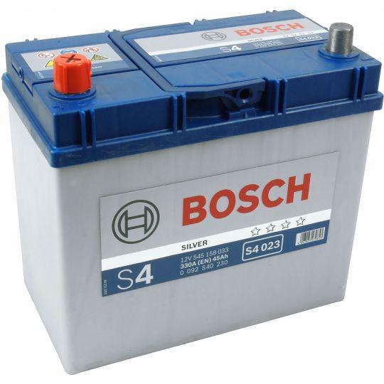 Автомобильный аккумулятор АКБ BOSCH (БОШ) S4 023 / 545 158 033 S4 Silver 45Ач п.п.