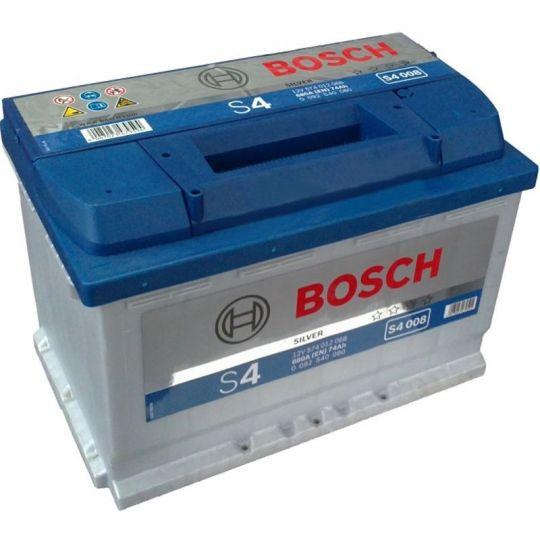 Автомобильный аккумулятор АКБ BOSCH (БОШ) S4 008 / 574 012 068 S4 Silver 74Ач о.п.