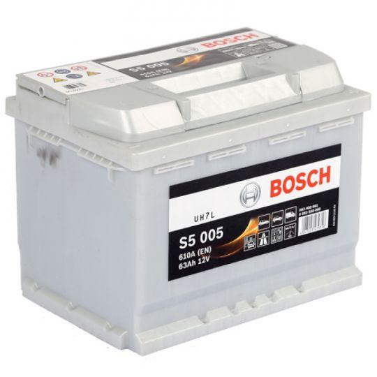 Автомобильный аккумулятор АКБ BOSCH (БОШ) S5 005 / 563 400 061 63Ач о.п.