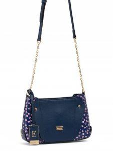 Тёмно-синяя сумка кросс-боди Eleganzza