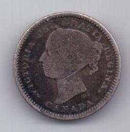 10 центов 1888 г. Канада(Великобритания)