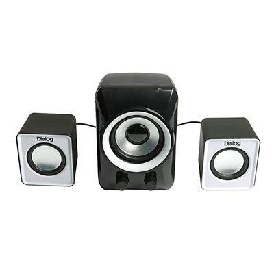 Мультимедийные колонки 2.1 Dialog Colibri AC-202UP BLACK-WHITE - aкустические колонки 2.1, 11W RMS, черные, питание от USB