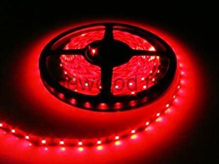СД лента 4.8Вт SMD3528-60LED 240Lm 12V IP65 (красный)