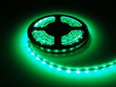 СД лента 4.8Вт SMD3528-60LED 240Lm 12V IP65 (зеленый)
