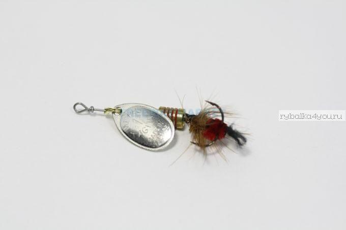 Купить Блесна Mepps Aglia Mouche AR/RG (серебро/красный) №1 (3,5 гр)