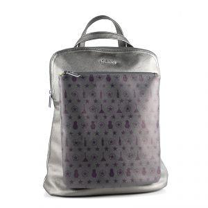 Рюкзак женский 1513910; экокожа; серый