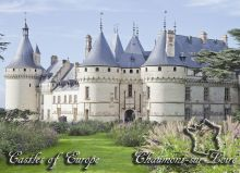 Почтовая открытка Замки Европы - Шомон-сюр-Луар