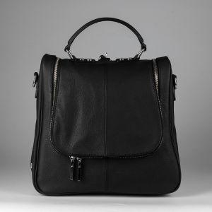 Рюкзак женский 1506416; кожа; черный