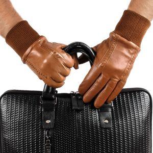 Перчатки мужские 29К_40078_10_П; кожа; коньяк (Размер 9,5)