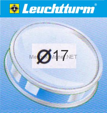 Капсула для монеты Leuchtturm 17 мм, упаковка 10 шт
