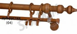 Карниз деревянный ДК 23 дуб рустик