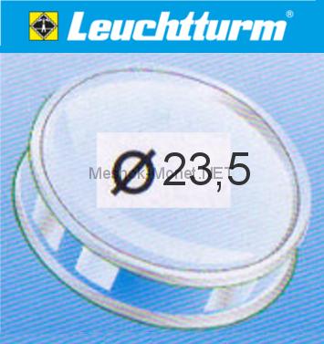 Капсула для монеты Leuchtturm 23,5 мм, упаковка 10 шт