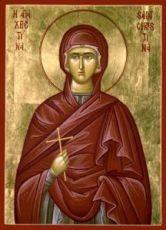 Икона Христина Тирская (рукописная)