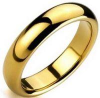 Позолоченное кольцо 4 мм