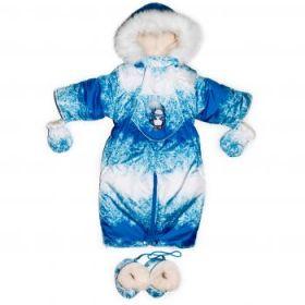Зимний комбинезон трансформер для новорожденных на овчине Мими