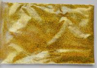 Зеркальная пыль (глиттер, втирка) для дизайна ногтей «Светлое золото голограмма» №02 (1 грамм)